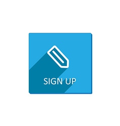 Sign up button flat vector image