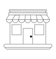 store shop building symbol vector image