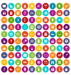 100 school years icons set color vector image vector image