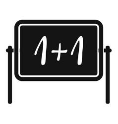 board icon simple style vector image vector image