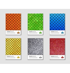 Covers with mosaic texture vector image