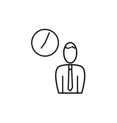 employee business time icon vector image