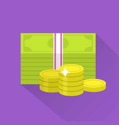 flat money icon vector image vector image