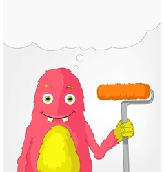 Funny Monster Painter vector image vector image