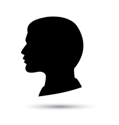 head icon isolated on white background vector image vector image