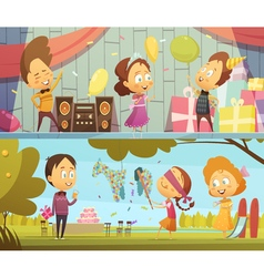 Kids Party Banners vector image vector image