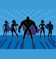 superhero team 2 vector image vector image