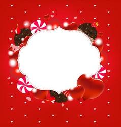 Sweet Love Heart Frame vector image