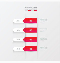 timeline template pink gradient color vector image vector image