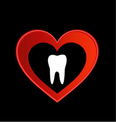 Tooth graphic vector image vector image