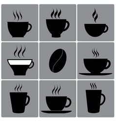 types of cups vector image vector image