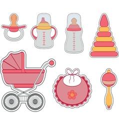 Baby icon girl vector image