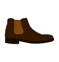 classic chelsea shoe style boot icon isolated on vector image