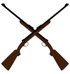 Crossed rifle vector image