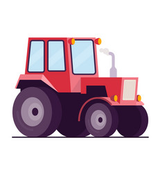farm tractor flat style vector image