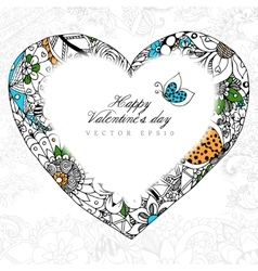 greeting card Happy Valentine vector image vector image