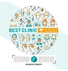 Medical Card flyer plastic surgery clinics Flat vector image vector image