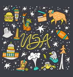 symbols of usa vector image vector image
