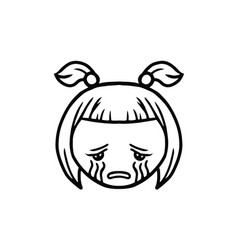 thin line cry icon vector image vector image