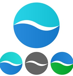 Wave logo set vector