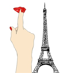 A big kiss from Paris vector image vector image