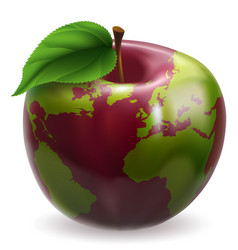 globe apple concept vector image vector image