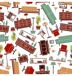 Home furniture seamless pattern background vector image