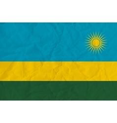 Rwanda paper flag vector image