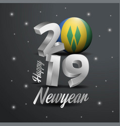 2019 happy new year saint vincent and grenadines vector