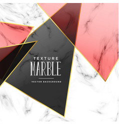 Abstract marble texture with geometric shapes vector