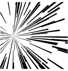 abstract speed motion black lines star burst vector image