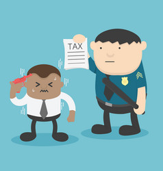 african businessmen are troubled by the taxation vector image