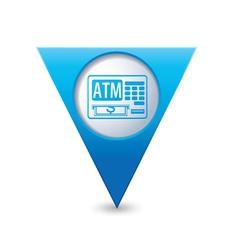 Atm icon pointer blue vector