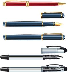 Ball point pens vector