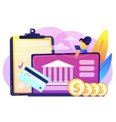 bank account concept vector image