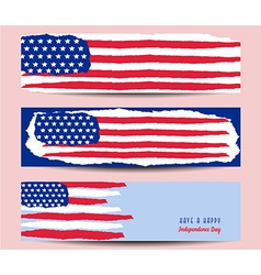 Banner design for 4th of July American vector