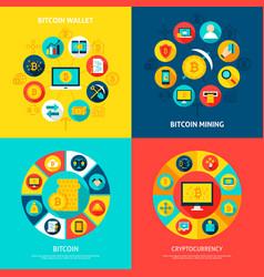 bitcoin concepts set vector image