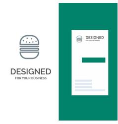 burger fast food fast food grey logo design and vector image
