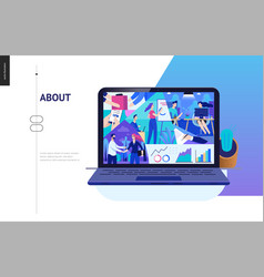 Business series - about company office life web vector