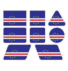buttons with flag of Cape Verde vector image