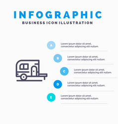 caravan camping camp travel blue infographics vector image
