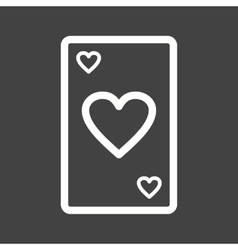 Card I vector image