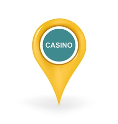 Casino Location vector image