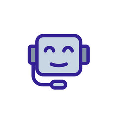 Chat bot icon isolated contour symbol vector