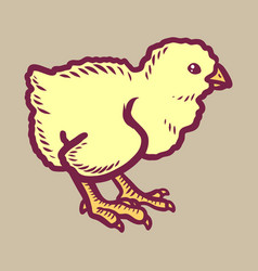 chick icon hand drawn style vector image