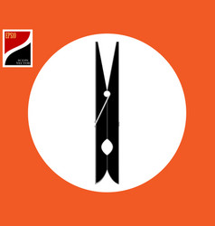 Clothespin for fastening clothes vector