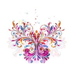 Colorful floral bouquet vector