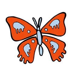 comic cartoon butterfly vector image