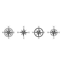compass icon nautical compass for travel with vector image