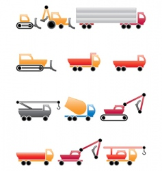 construction machines vector image vector image